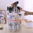 Kép 1/5 - Kör alakú, forgatható sminkkészlet- és kozmetikai tároló