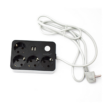 Kép 2/2 - Hálózati elosztó 4 aljzattal, 2 USB csatlakozóval és kapcsolóval