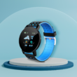 Kép 1/2 - 119Plus okosóra, vízálló , vérnyomásmérő, alvásfigyelő, kék