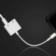 Kép 1/2 - 2 az 1-ben adapter 3,5 Jack 8 Pin konnektor iPhone 7 8 Plus X XS Max XR-hoz