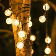 Kép 1/5 - LED kristálygömb égősor, napelemes