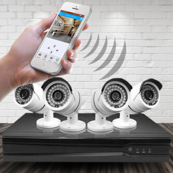 AHD 4 kamerás megfigyelő rendszer + vezérlőközpont