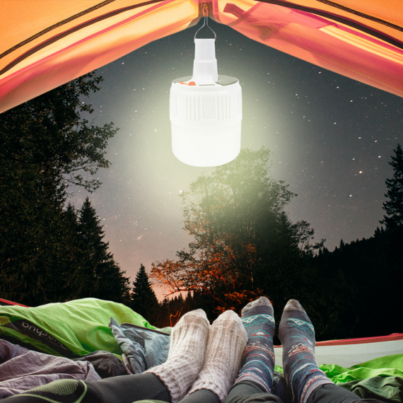 Elektromos LED kemping lámpa