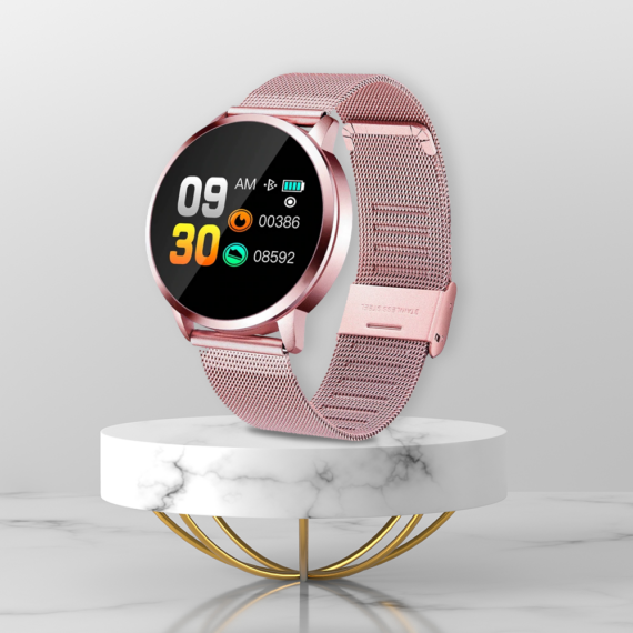 Q8 fitness okosóra, rózsaszín